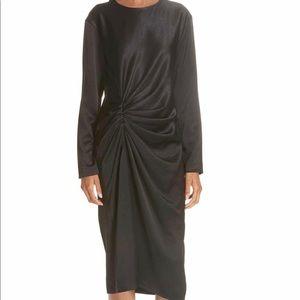 Brand new helmut Lang crinkled satin dress